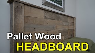 Download Rustic Headboard with Pallets - How to Video