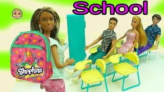 Download Barbies Go To School with Mini Shopkins Backpacks - Teacher Opens Season 5 Packs with Blind Bags Video