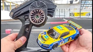 Download RC car AUDI R8 gets unboxed, tuned and tested! Kyosho Mini-Z! Video