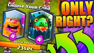 Download ONLY RIGHT CARDS?! Clash Royale Crown Duel! Video