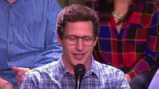 Download Andy Samberg aka Jake Peralta fun moments with Brooklyn 99 team Video