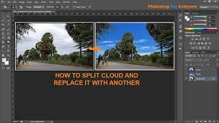 Download Photoshop cs6: Cách tách nền mây- vườn cây-đổi background Video