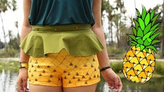 Download Pineapple Peplum Shorts ♥ DIY Video