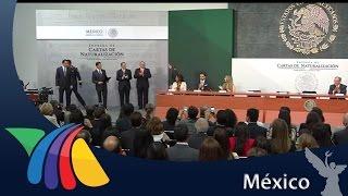 Download Peña entrega 150 cartas de naturalización | Noticias Video