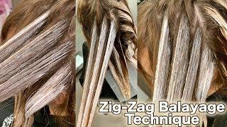 Download Zig Zag Balayage Technique Video