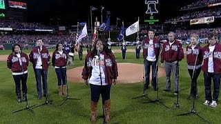 Download WS 2009 Gm 3: Cast of 'Glee' sings the anthem Video