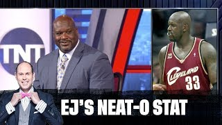 Download Shaq Gets Quizzed on His Old Jersey Numbers | EJ's Neat-O Stat Video