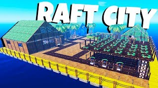 Download Building the Best City Ever! - Raft Gameplay Video