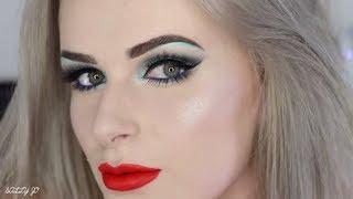 Download GRAPHIC LINER + BRIGHT ORANGE LIPS   Makeup Tutorial Video