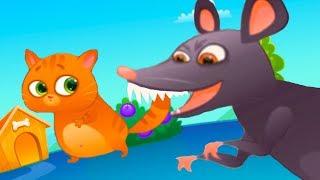 Download КОТЕНОК БУБУ #82 Мультик игра про котика и крыса. Злая, страшная мышь бегает за котом #пурумчата Video