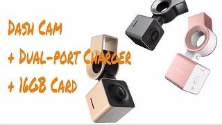 Download Mini Smart 1080P Car Dash Cam DVR Camcorder Video Recorder + Dual-port Car Charger + 16G TF-Card Video
