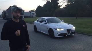 Download Alfa Romeo Giulia Quadrifoglio på Autobahn Video