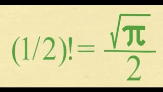 Download What Is The Factorial Of 1/2? SURPRISING (1/2)! = (√π)/2 Video