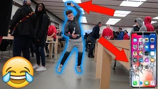 Download SMASHING THE IPHONE X IN PUBLIC PRANK! Video