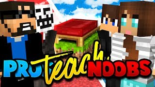 Download TEACHING MY SON AND WIFE HOW TO PLAY MINECRAFT BED WARS!! Video