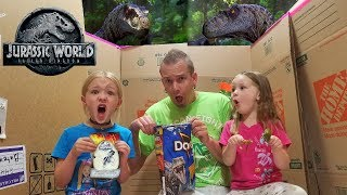 Download Dinosaurs in Our House! Jurassic World Blind Bag Toys Scavenger Hunt! Velociraptors! Video