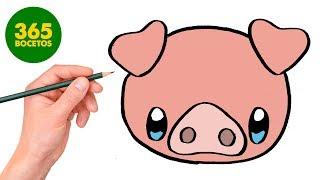 Download COMO DIBUJAR CERDO KAWAII PASO A PASO - Dibujos kawaii faciles - How to draw a PIG Video