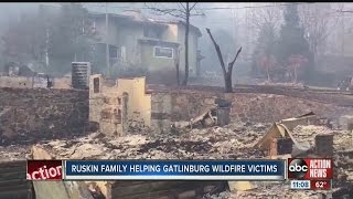 Download Ruskin family helping Gatlinburg wildfire victims Video
