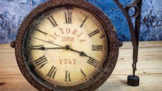 Download Vintage style Victoria Station clock - Restoration Video