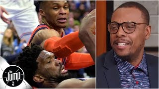 Download Joel Embiid-Russell Westbrook feud has Paul Pierce fired up | The Jump Video