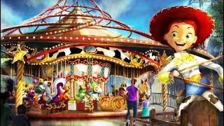 Download Jessie's Critter Carousel revealed for Pixar Pier at Disneyland Resort Video