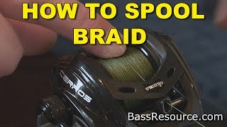 Download How To Spool Braid On A Baitcaster   Bass Fishing Video