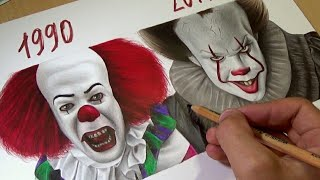 Download Drawing IT - Pennywise (1990 vs 2017) Video