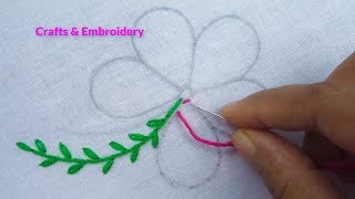 Lazy Daisy Stitch-Detached Chain Stitch - Hand Embroidery Tutorials