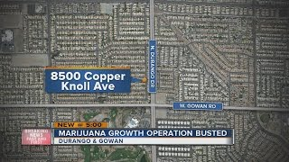 Download Las Vegas police discover pot growth operation near Durango and Gowan Video