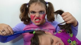 Download Bad Baby Victoria Cut Annabelle Hair ″Make Up Fail″ Toy Freaks Video