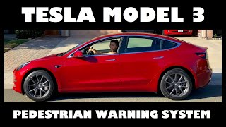 Download Tesla Model 3 Pedestrian Warning System PWS Noise Maker Sound Video
