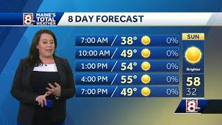Download Brighter, warmer stretch. Soggy weather returns midweek. Video