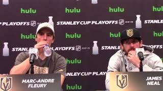 Download Golden Knights Marc-Andre Fleury, James Neal Post-Game Presser 5/16 Video
