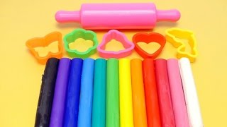 Download Learn Colors with RAINBOW Dough Clay - Molds & Shapes Video