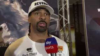 Download David Haye on Tony Bellew pushing him Video