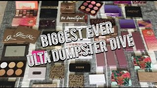 Download BIGGEST ULTA DUMPSTER DIVE EVER + LIVE DIVE Video