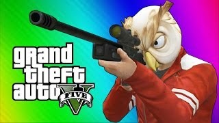 Download GTA 5 Next Gen Funny Moments - Sniper Montage, Treehouse, Glitches, Bank Robbery! Video