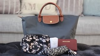 Download What I Can Fit In My Medium Longchamp Le Pliage | Bright Ducky Video