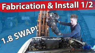 Download Miata 1.6 to 1.8 Swap - Fabrication and Engine Install 1/2 Video