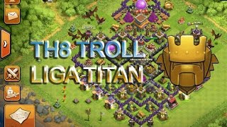 Download DISEÑO TH8 TROLL ( liga titan )- clash of clans Video
