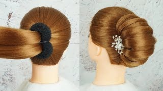 Download New French Bun Hairstyle Step By Step - French Roll Hairstyle With Clutcher | Braid Hairstyles 2019 Video