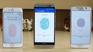 Download HTC One M9 Plus vs Galaxy S6 vs iPhone 6 Fingerprint Scanner Test Video