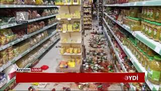 Download Zəlzələ Şamaxıda mağaza sahibinə 50 min manat ziyan vurdu Video