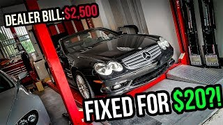 Download I Fixed A $2,500 Problem On My Cheap Mercedes-Benz SL55 AMG For $20? Video