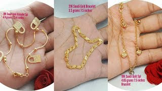 Download Saudi Gold Bracelets designs with WEIGHT Video
