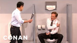 Download Steven Ho Shows Conan To Fend Off A Mens Room Attack - CONAN on TBS Video