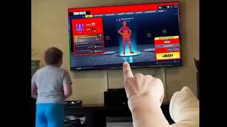 Download my little brother hacked fortnite...then this happened Video
