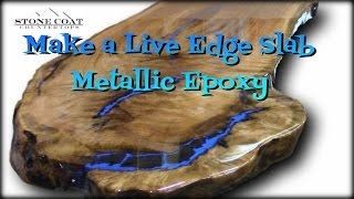Download Live Edge Slab Table, How to coat and finish with Blue Metallic! Video