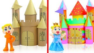 Download SUPERHERO BABY BUILDS COLOFUL CASTLE 💖 Play Doh Cartoons For Kids Video