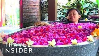 Download Relax In A Flower Petal Bath In Bali Video